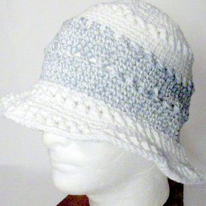 InfiniteElaine Accessories - NEW White Cotton Stretchy Summer Sun Hat